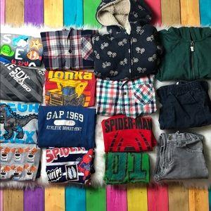 Huge 4/5 Boys clothing bundle lot winter clothes